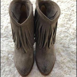 Frye Ilana suede fringe boots